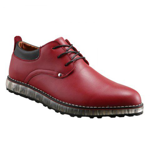 Lace-Up Shoes - RED 40