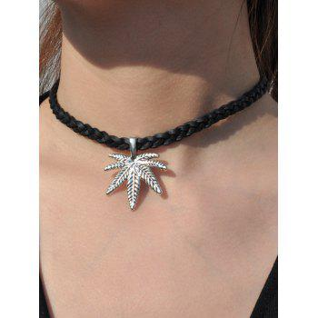 Vintage Maple Leaf Woven Rope Necklace