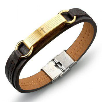 Faux Leather Cross Pattern Bracelet