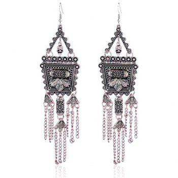 Retro Court Style Tassel Pendant Long Earrings
