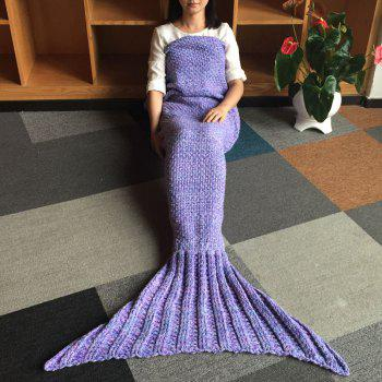 Comfortable Warmth Wool Knitting Mermaid Blanket