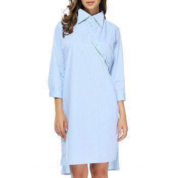 Backless Twisted Buttoned Shirt Dress