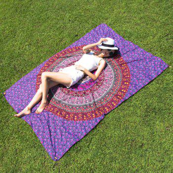 Ethnic Style Red Totem Yoga Mat Gypsy Cotton Tablecloth Beach Throw Shawl Wrap Scarf
