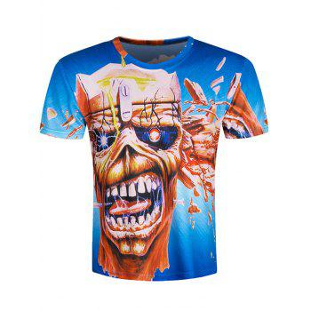 Skull Pattern Short Sleeve Cool T-Shirt
