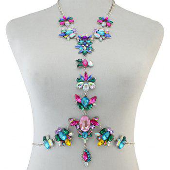 Statement Faux Crystal Body Chain - COLORMIX COLORMIX