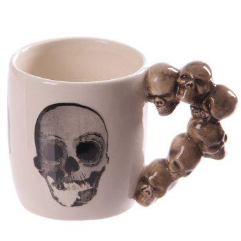 Ceramic Drinkware Coffee Skull Hand Shank Mug
