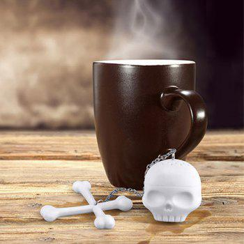 Kitchen Tool Skull Cross Shape Tea Brewing Apparatus - WHITE