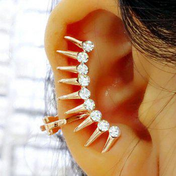 ONE PIECE Rhinestone Alloy Rivets Ear Cuff
