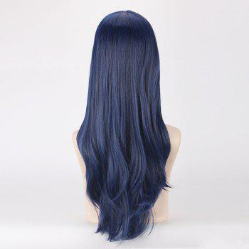 League of Legends LOL	Officer Caitlyn Bewitching Long Middle Part Fluffy Wave Cosplay Wig - PURPLISH BLUE
