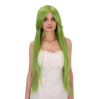 Fairy Neon Bright Green Long Straight Side Bang Film Character Cosplay Wig - NEON BRIGHT GREEN