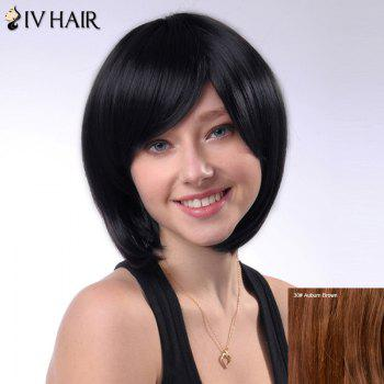 Siv Hair Bob Style Straight Capless Short Side Bang Human Hair Wig