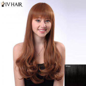 Shaggy Long Wavy Siv Hair Capless Full Bang Human Hair Wig
