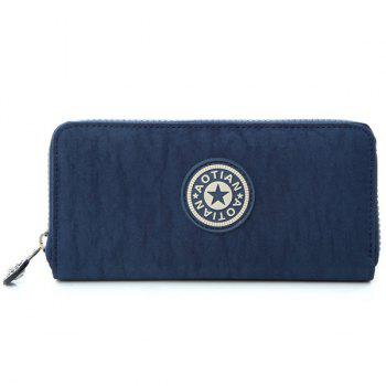 Casual Solid Color and Zip Design Women's Wallet - DEEP BLUE DEEP BLUE