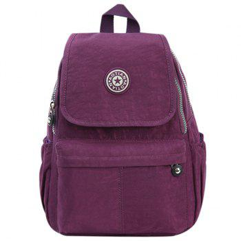 Casual Cover and Zipper Design Women's Backpack