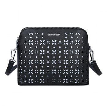 Trendy Hollow Out and Letter Design Women's Crossbody Bag