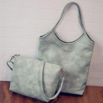Simple Solid Colour and PU Leather Design Women's Shoulder Bag