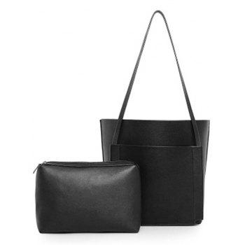 Casual PU Leather and Stitching Design Women's Shoulder Bag