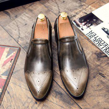 Engraving Pointed Toe Shoes - GOLDEN GOLDEN