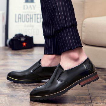 Engraving Pointed Toe Shoes - Noir 40