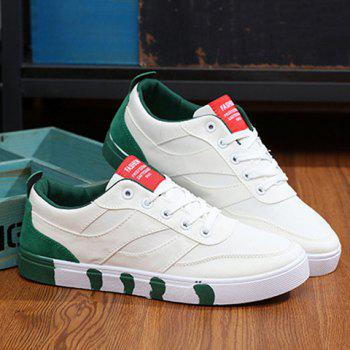 Basic Athletic Lace Up Casual Canvas Sneakers Flats Walking Shoes
