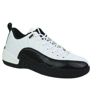 Buy Color Block Stitching Sports Shoes WHITE
