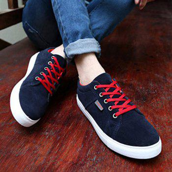Sports Style Lace-Up and Suede Design Men's Casual Shoes