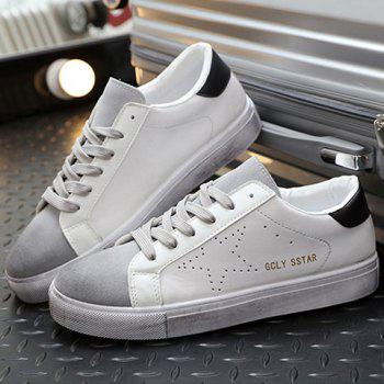 Stylish Star and Splicing Design Men's Casual Shoes