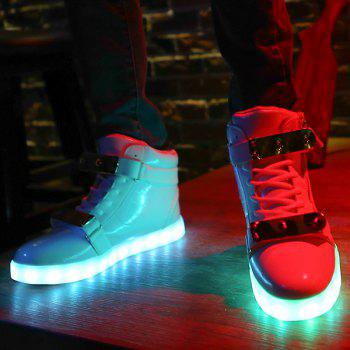 Lights Up Led Luminous Shoes - WHITE 43