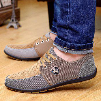 Checked Color Block Casual Shoes