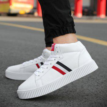 High Top Stripe Sneakers - WHITE 40