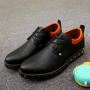 Lace-Up Shoes - BLACK 43
