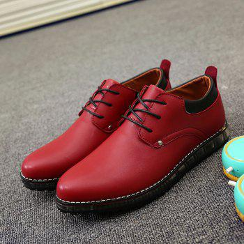 Lace-Up Shoes - RED 44