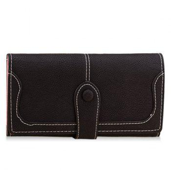 Fashion Suede and Solid Color Design Wallet For Women