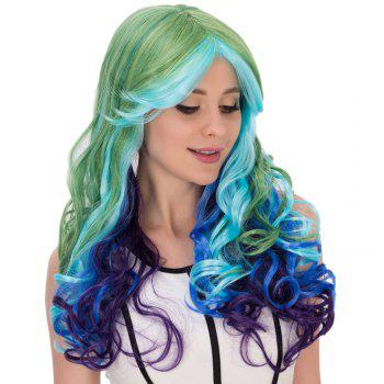 Film Colorful Character long Wavy Centre Parting cosplay perruque - multicolorcolore