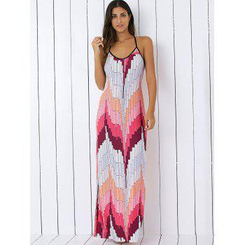 Printed Summer Maxi Slip Dress - XL XL