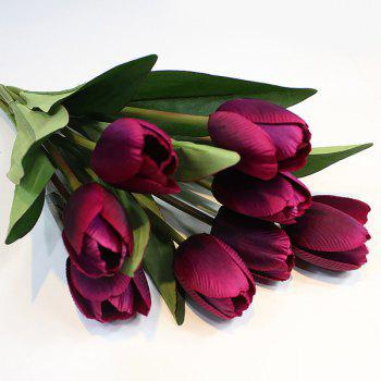 Un bouquet de Home Decor 9 Head Tulip Fleur artificielle