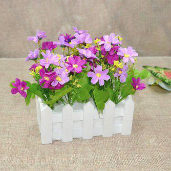 A Set of Fake Orchid Stockade Pot Artificial Flower