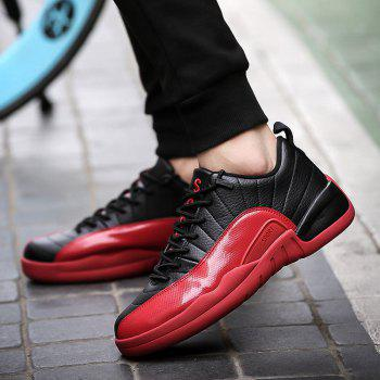 Color Block Stitching Sports Shoes - RED 41