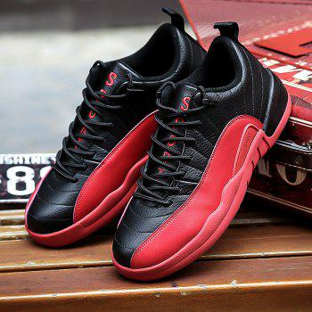 Color Block Stitching Sports Shoes - RED 43