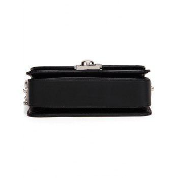 Fashion Chain and Metal Ring Design Women's Crossbody Bag - OFF WHITE