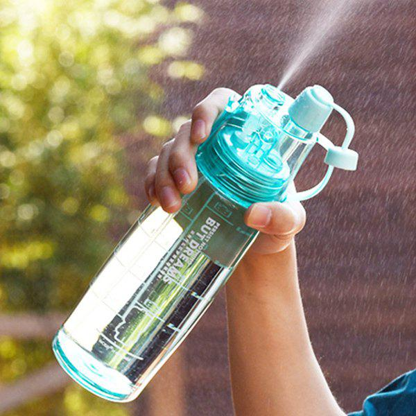 Travel Outdoor Sport Drinkware Spray Kettle Water Bottle - BLUE