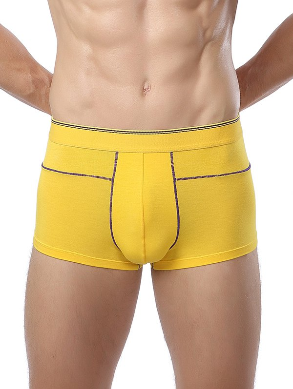 Elastic Waist U Convex Pouch Suture Design Men's Trunk