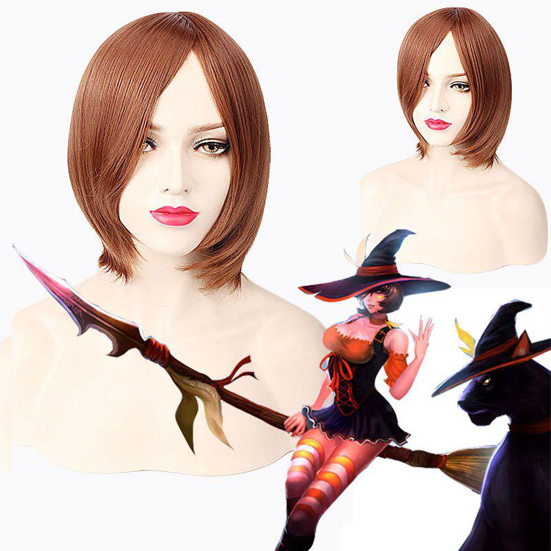League of Legends LOLNidalee Halloween Witch Bewitching Straight Short Cosplay Wig