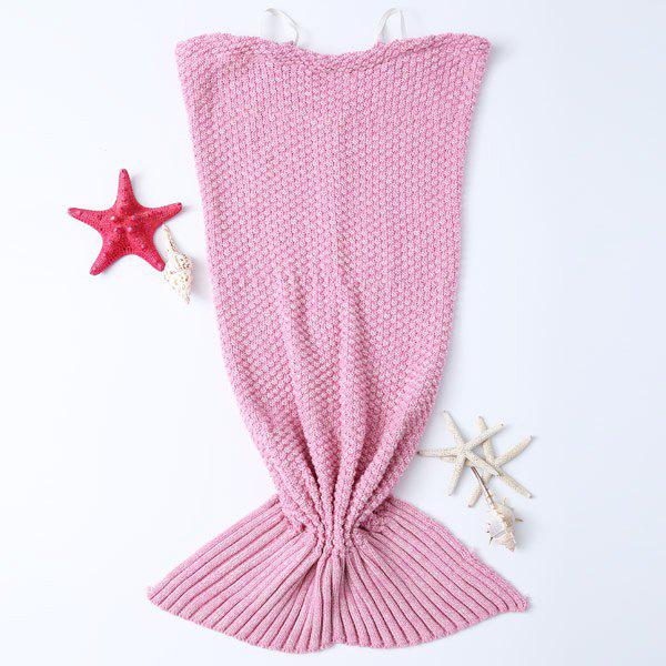 Pure Cotton Comfortable Swaddle Mermaid Blanket For Baby and Infant - PINK