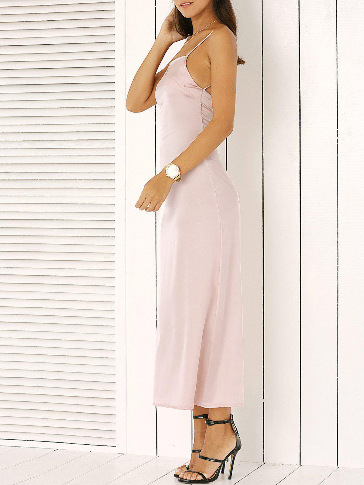Spaghetti Strap Backless Slimming Maxi Dress