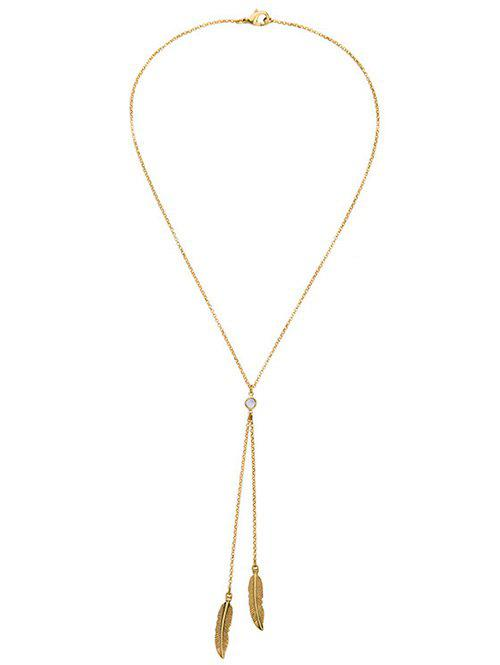 Bohemian Style Gold Plated Leaf Bolo Necklace