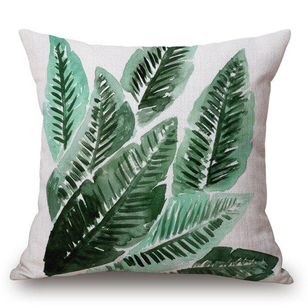 Creative Style Leaf Painting Pillow Case - OFF WHITE