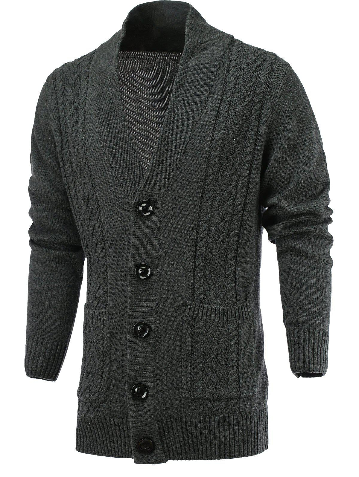 Single Breast Loose Fit Cardigan