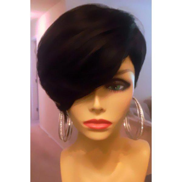 Fluffy Short Side Bang Capless Synthetic Wig