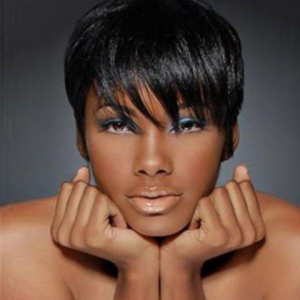 Short Straight Side Bang Synthetic Wig
